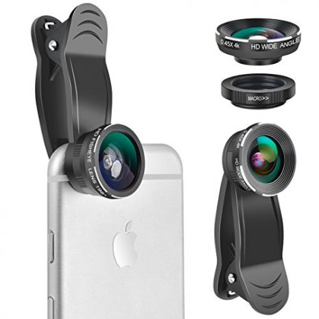 Lentile conversie HD 3 in 1 fisheye-wide angle-macro pentru smartphone