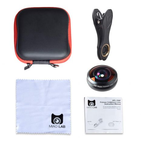 Lentile conversie Apexel APL-238F fisheye pentru smartphone
