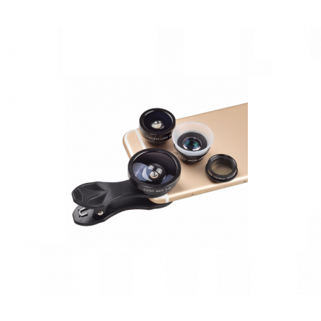 Kit lentile conversie Apexel APL-DG5H 5 in 1 cu clip pentru smartphone