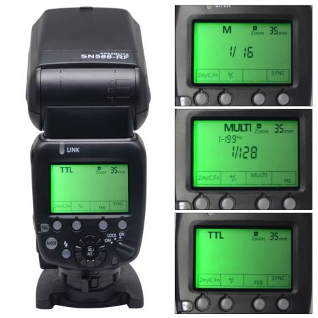 Shanny SN586-RF Blitz Canon E-TTL/ Nikon i-TTL, wireless radio 2.4G