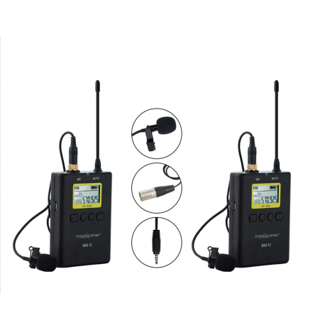 KIT Microfon Wireless WM10 pentru camere video