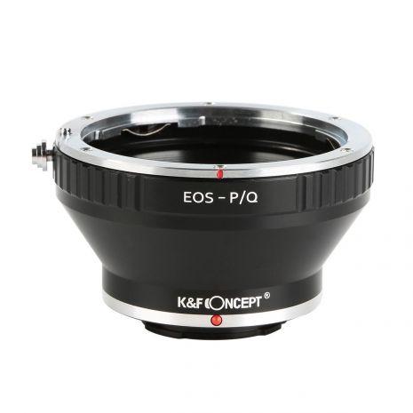K&F Concept EOS-P/Q adaptor montura de la Canon EOS EF la Pentax Q-Mount cu adaptor trepied KF06.264